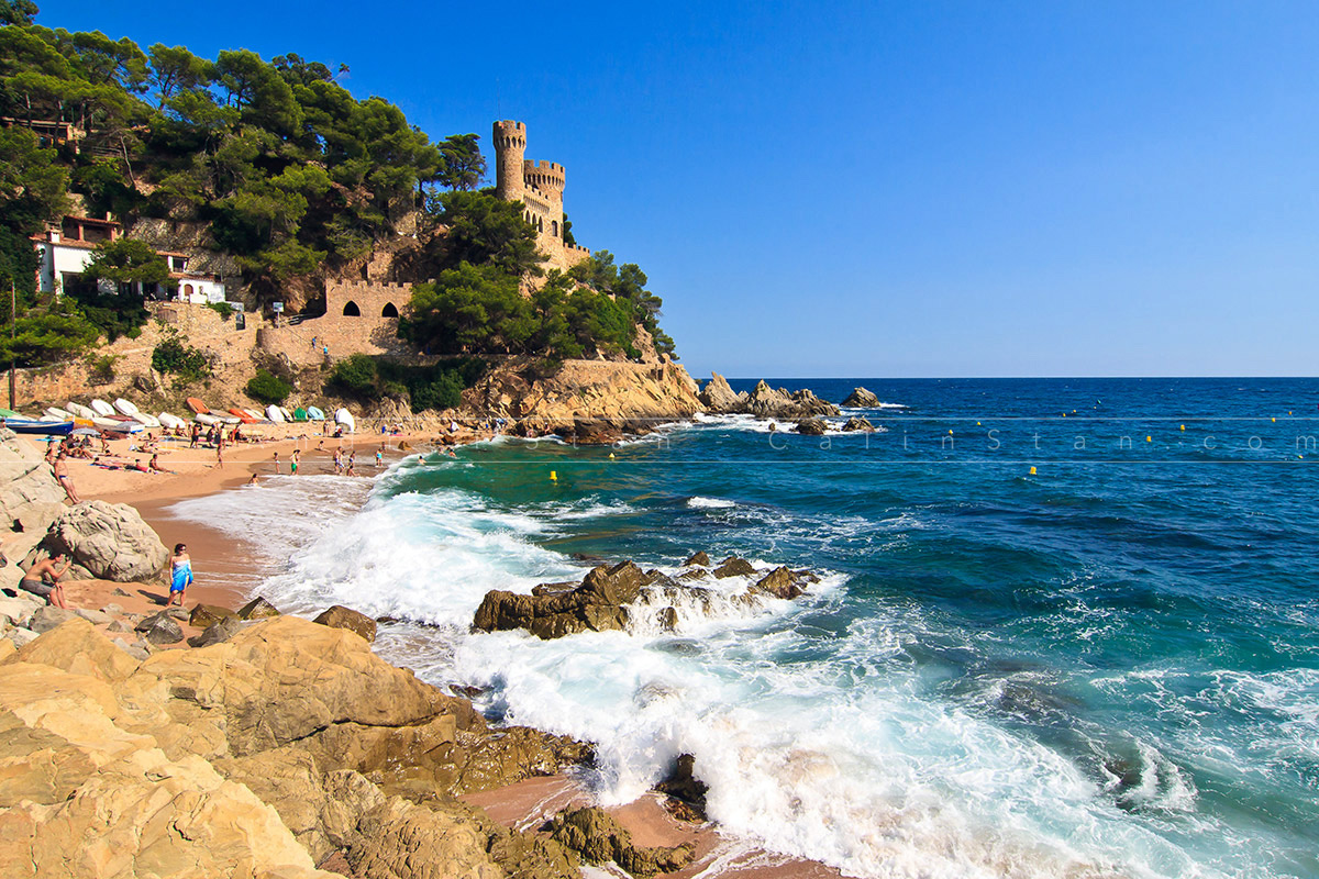 Costa Brava Castle Sant Joan in Lloret de Mar, Catalonia, Spain