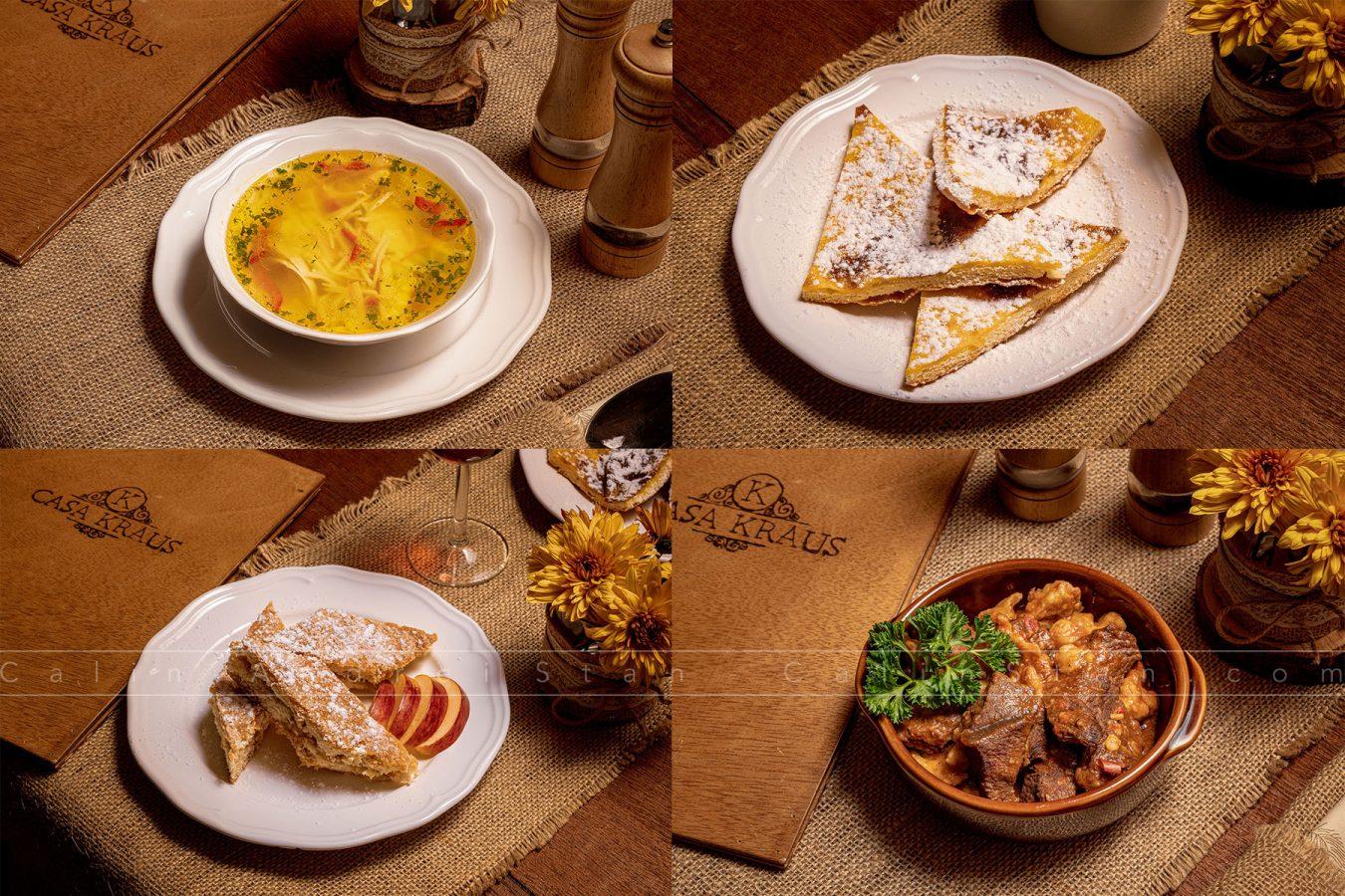 Fotografie culinara restaurant pensiune Casa Kraus